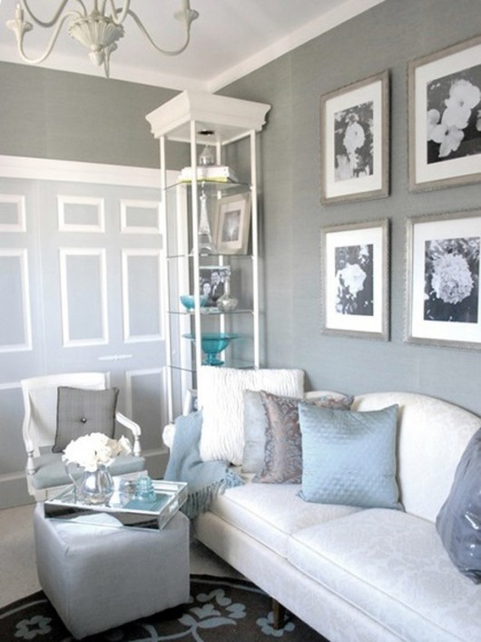 light blue living room walls photo - 1