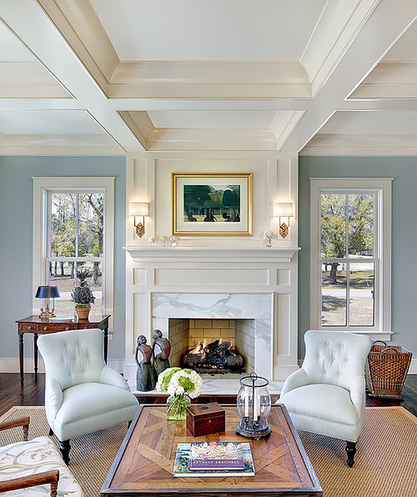 light blue living room walls photo - 8