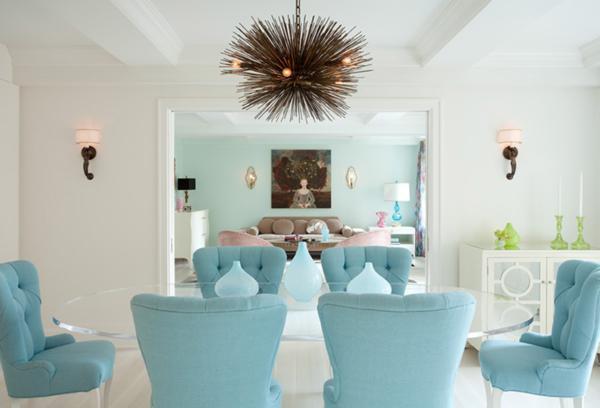 light blue wall decor photo - 1