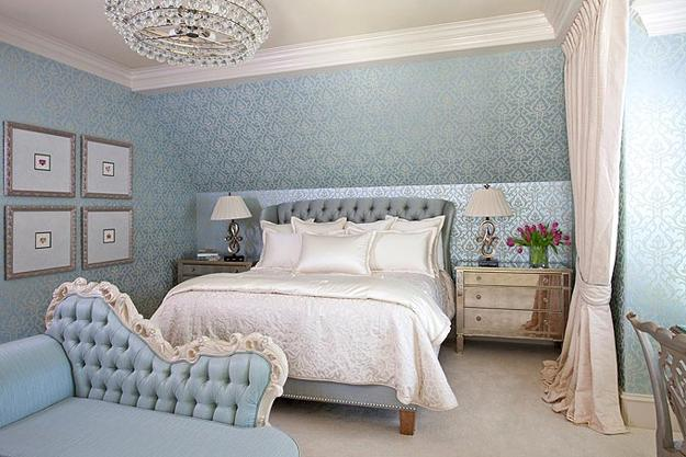 light blue walls in bedroom photo - 3