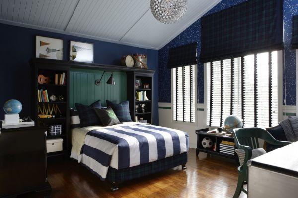 light blue walls in bedroom photo - 8