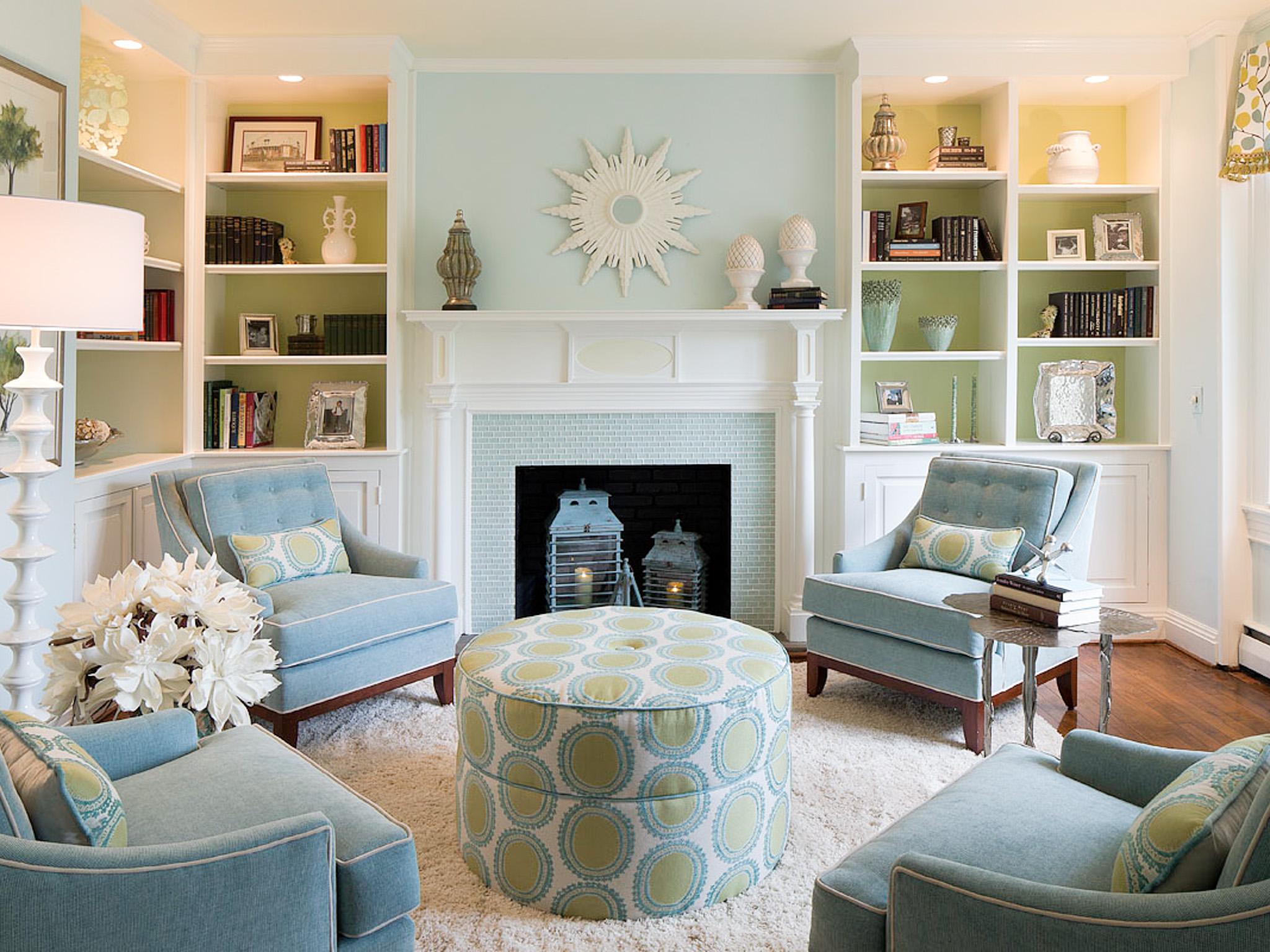 light blue walls in living room photo - 7