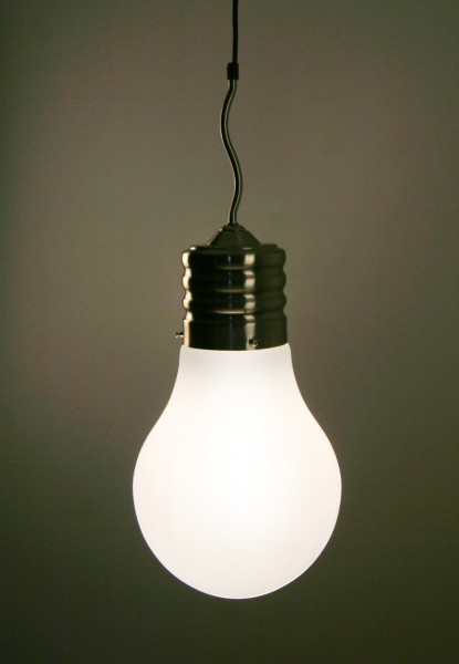 light bulb ceiling pendant photo - 3