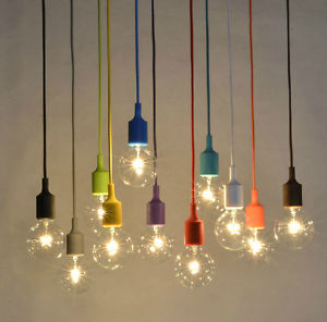 light bulb ceiling pendant photo - 9