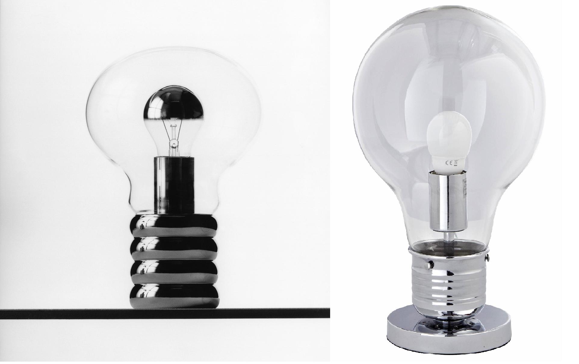 light bulb table lamp photo - 1