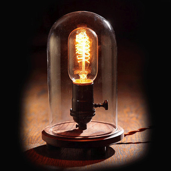 light bulb table lamp photo - 5