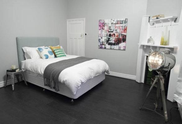 light gray bedroom walls photo - 9