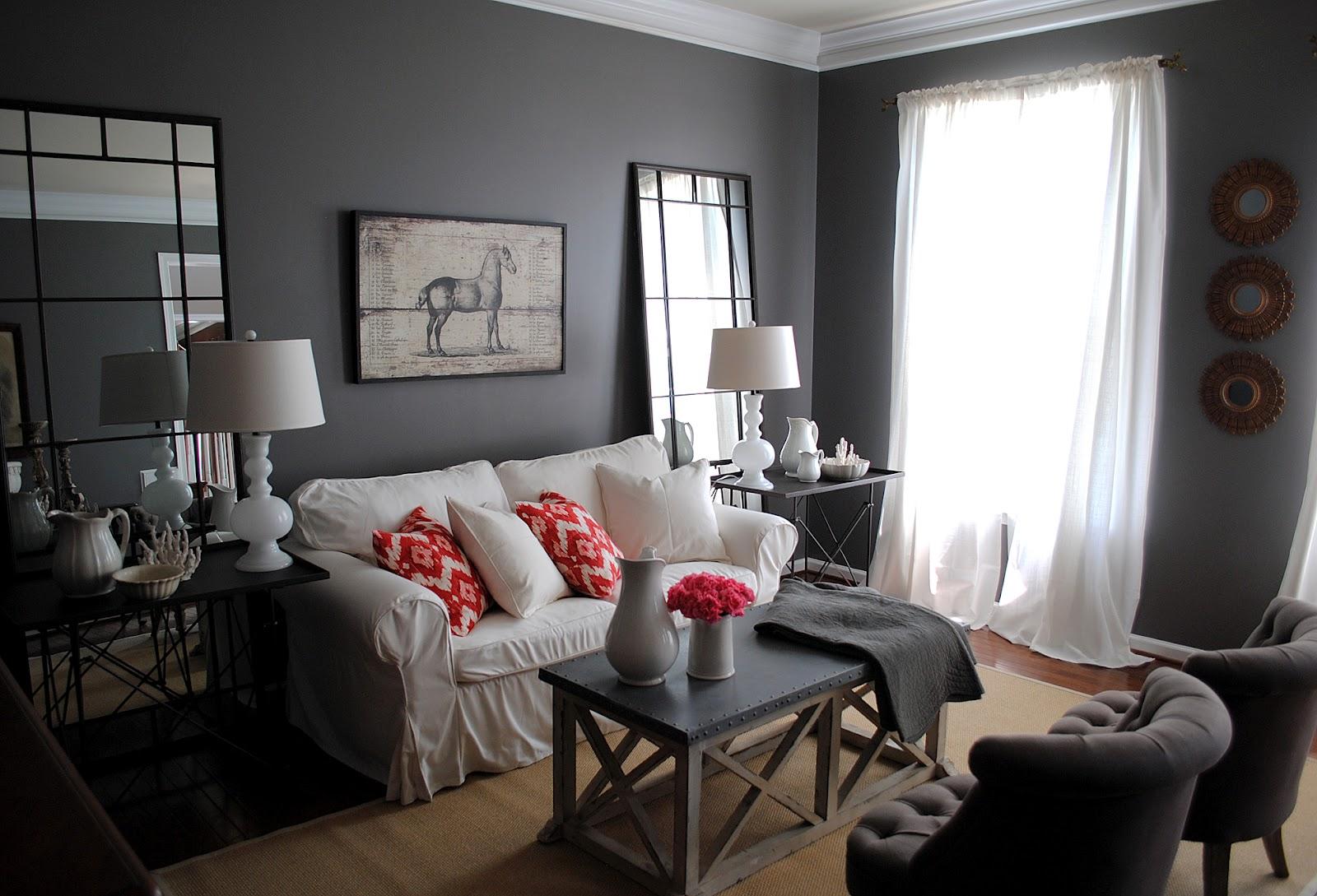 light gray living room walls | warisan lighting