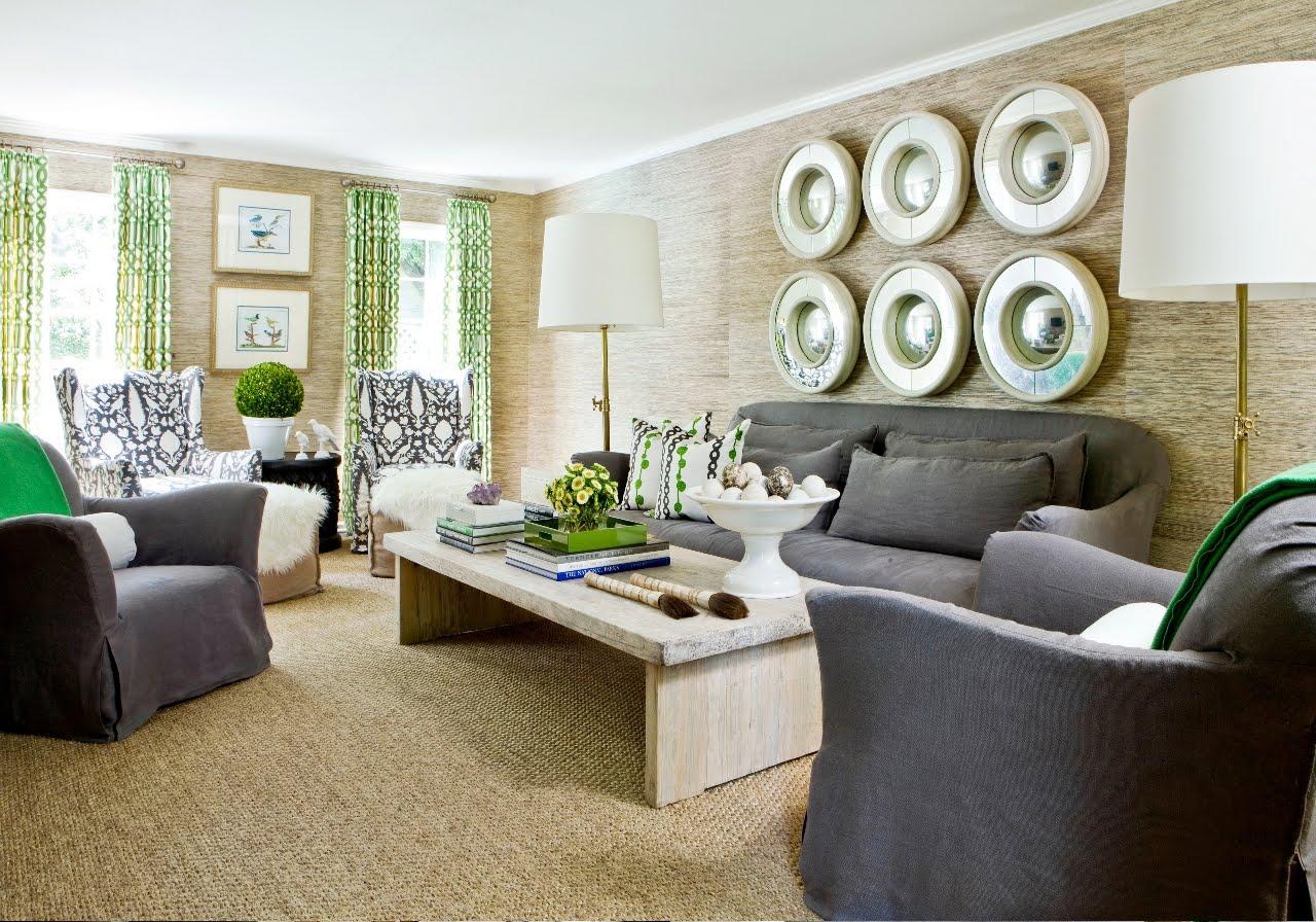 light green walls living room photo - 10