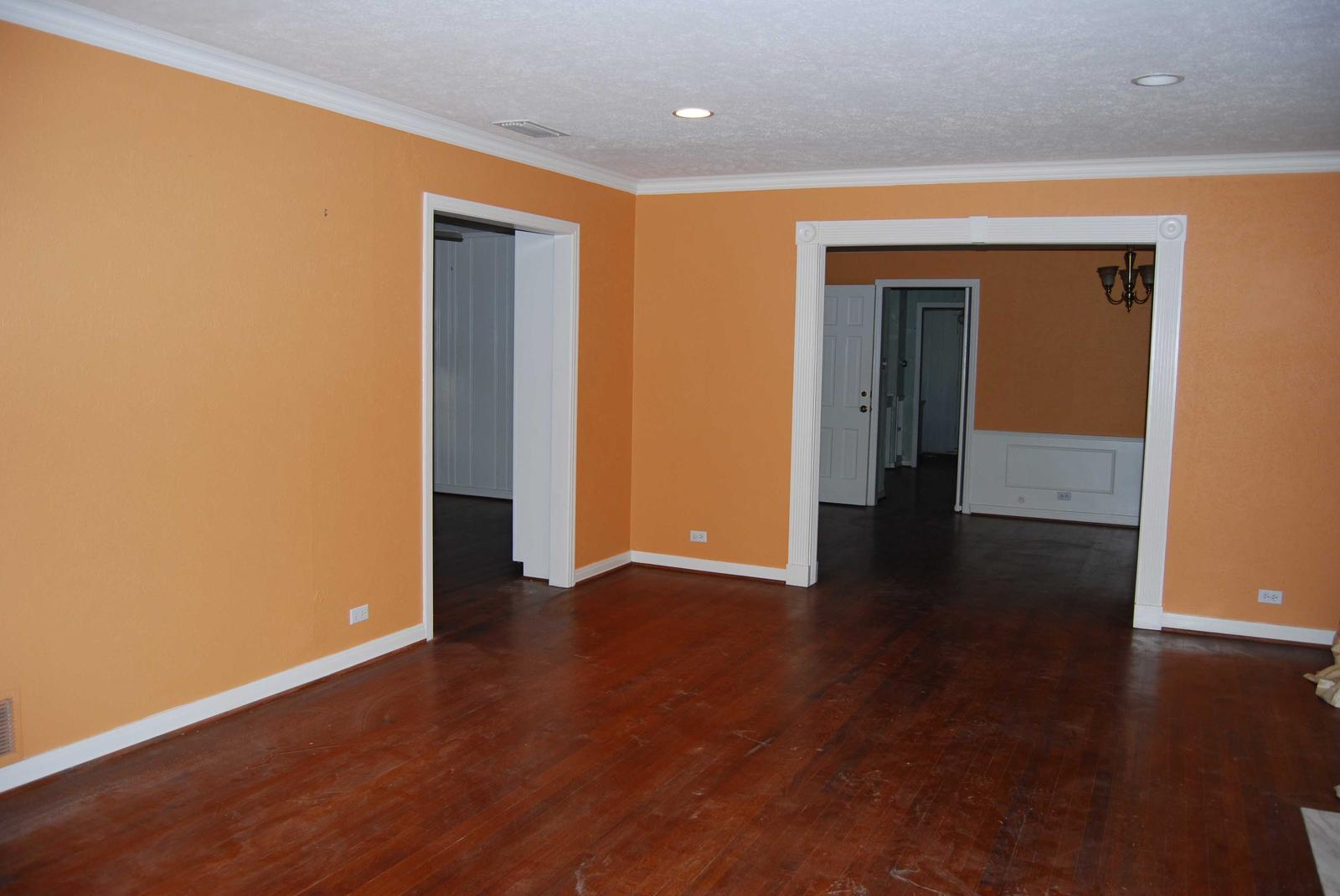 light orange wall paint photo - 1