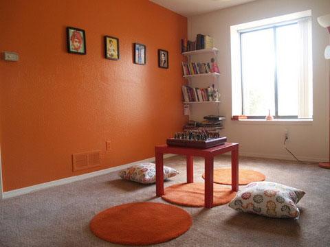 light orange wall paint photo - 5