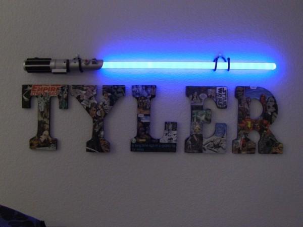 light saber wall light photo - 1