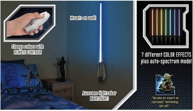 light saber wall light photo - 2