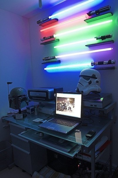 light saber wall light photo - 6