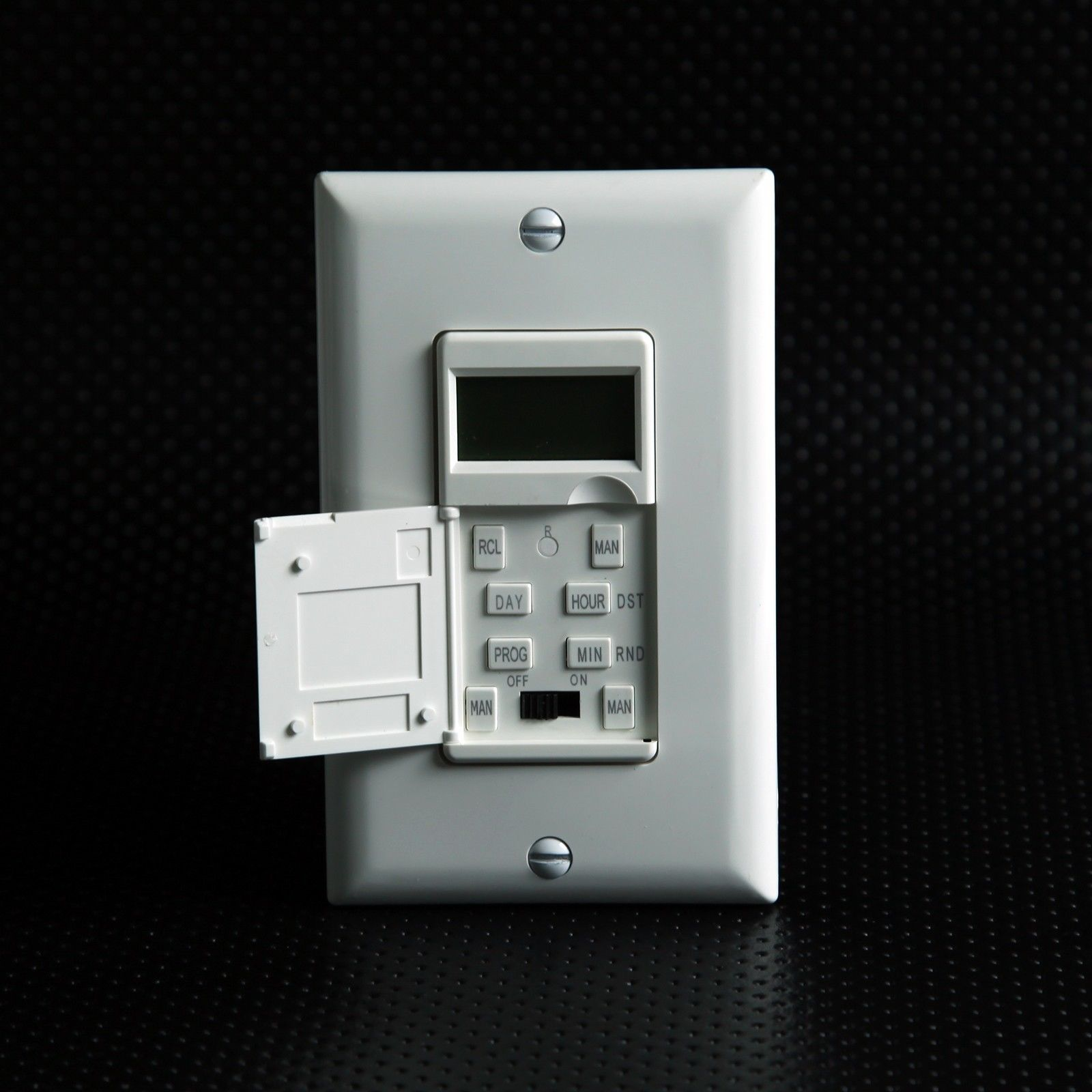 light switch with timer in wall photo - 7