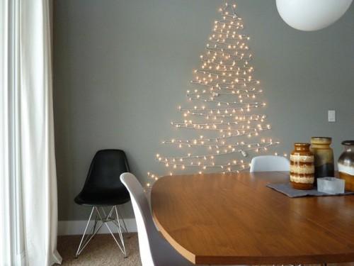 light tree on wall photo - 4
