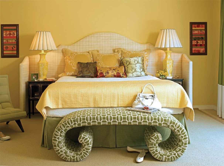 light yellow bedroom walls photo - 9