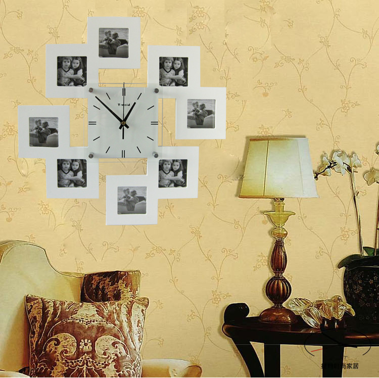 lighted digital wall clock photo - 3