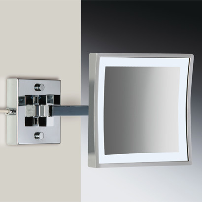 Lighted Wall Mount Makeup Mirror lighted vanity mirror wall mount | naura homes