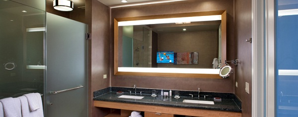 lighted vanity mirror wall photo - 2