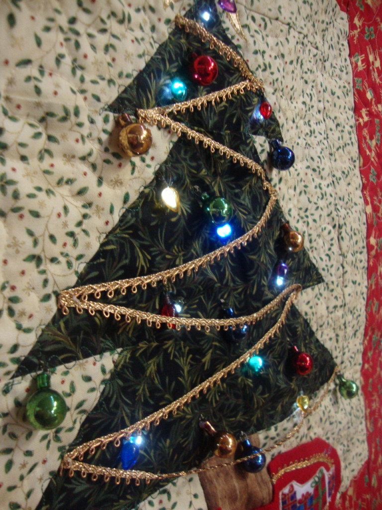 lighted wall christmas tree photo - 9