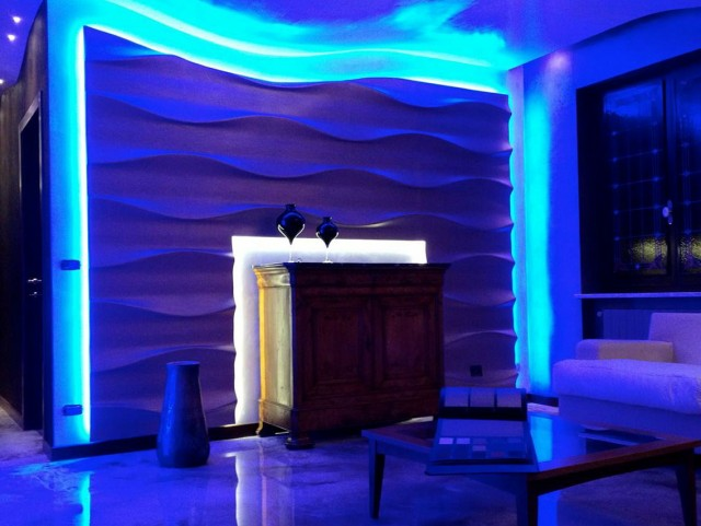 lighted wall panels photo - 7