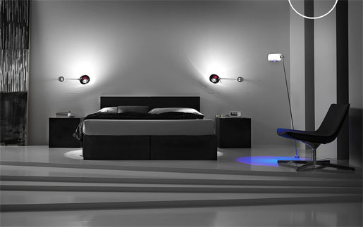The effects of Lights on wall in bedroom | Warisan Lighting