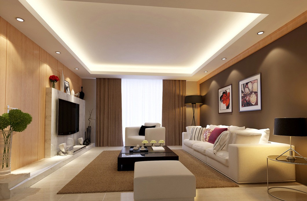 living room led ceiling lights photo - 2