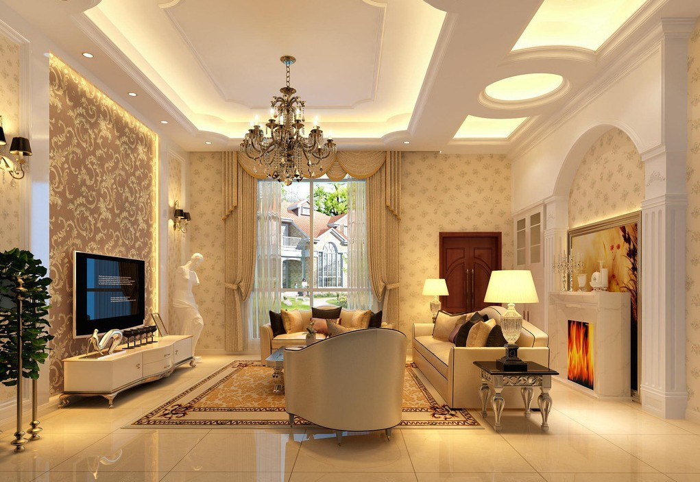 living room led ceiling lights photo - 8