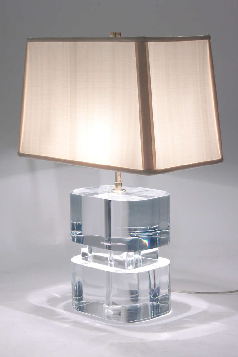 Lucite Table Lamp: lucite lamps photo - 1,Lighting