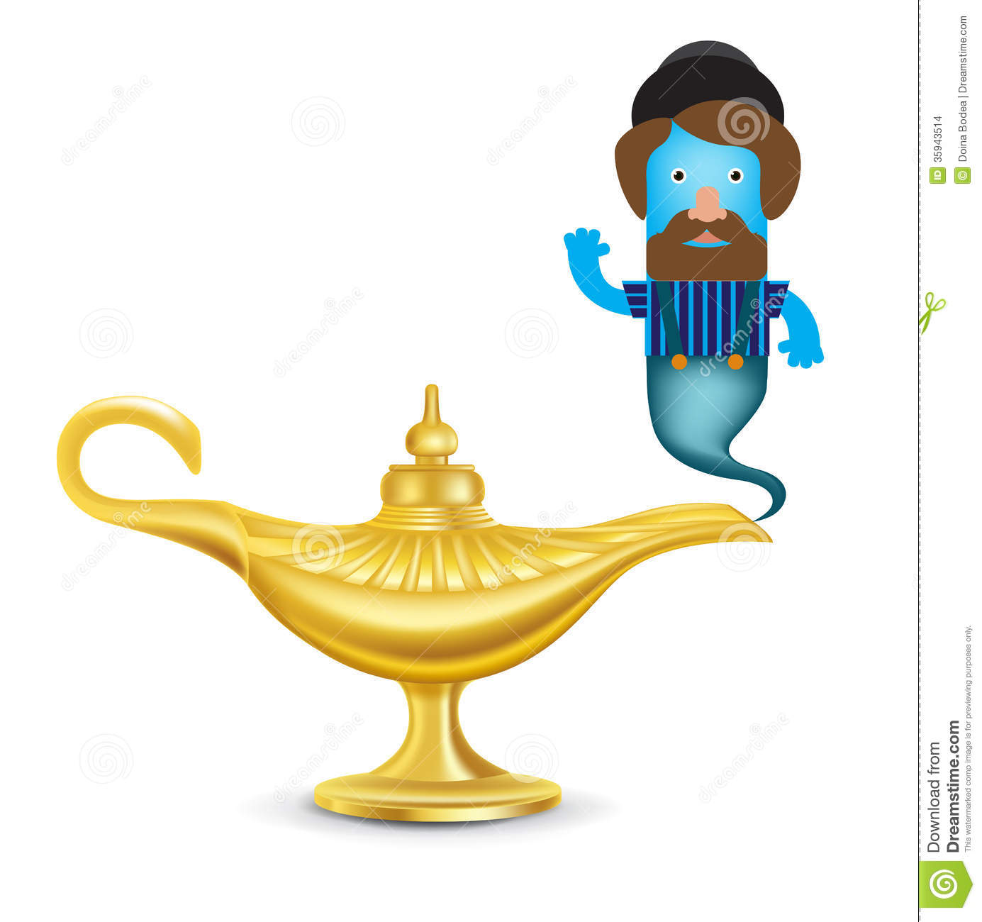 Magic Lamp Genie Warisan Lighting