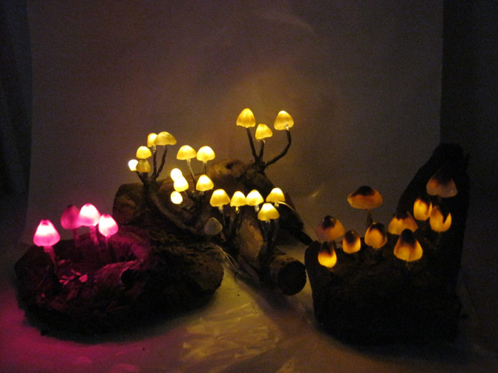 magic mushroom lamp photo - 4