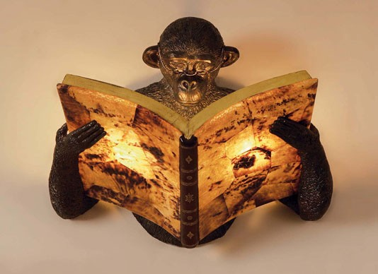 maitland smith monkey lamp photo - 8
