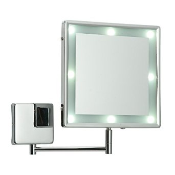 makeup mirror with lights wall mounted photo - 10