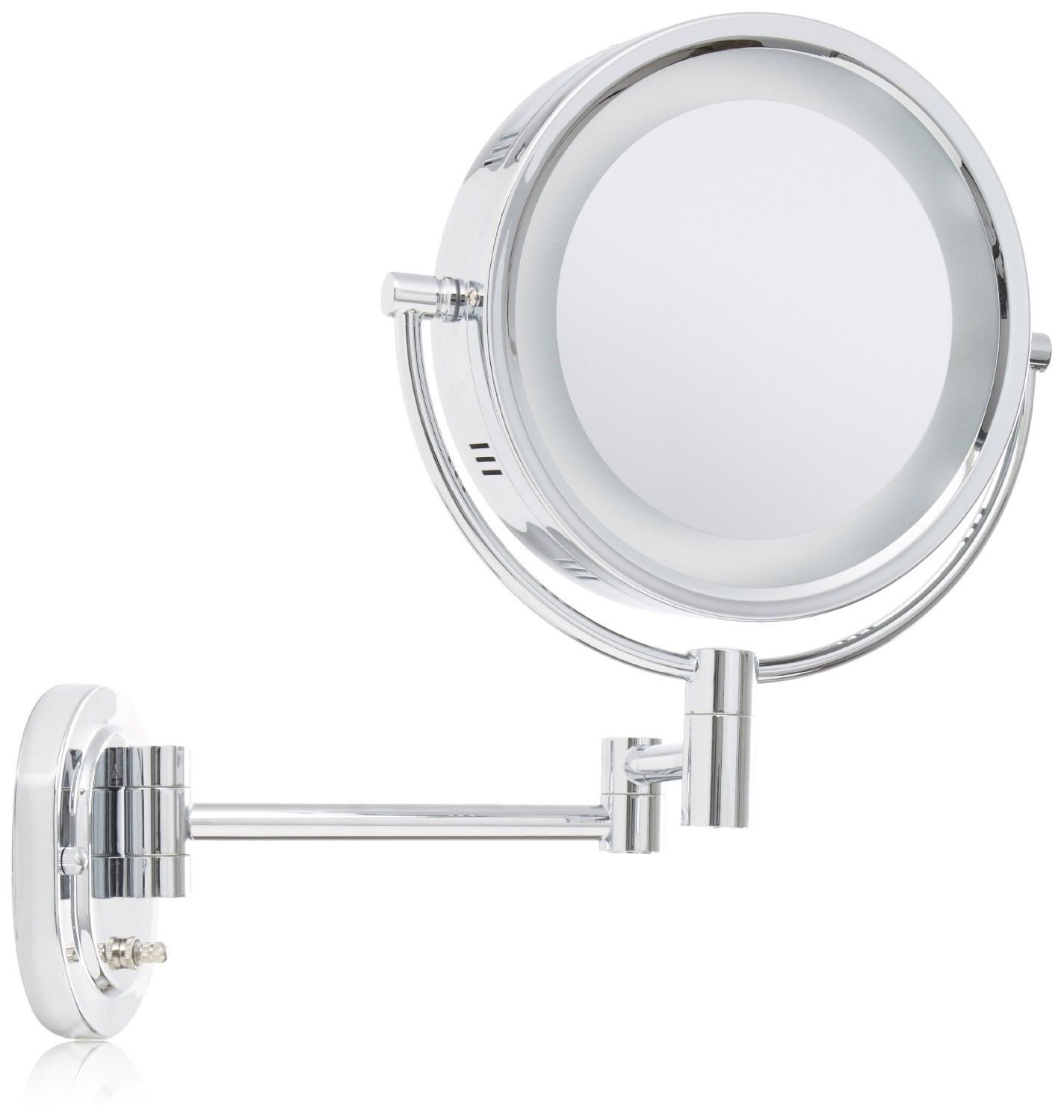 makeup mirror with lights wall mounted photo - 7