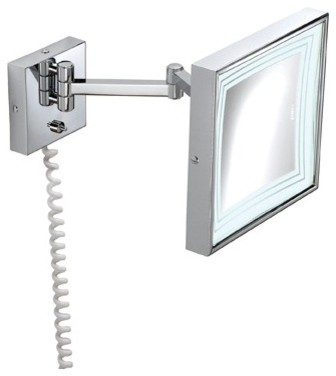 makeup mirror with lights wall mounted photo - 8