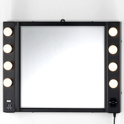 makeup wall mirror with lights photo - 2