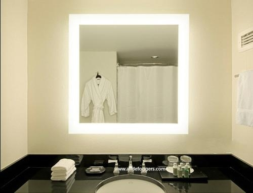 makeup wall mirror with lights photo - 3
