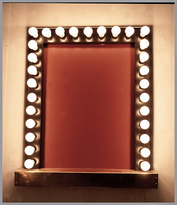 makeup wall mirror with lights photo - 5