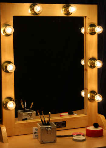 makeup wall mirror with lights photo - 7