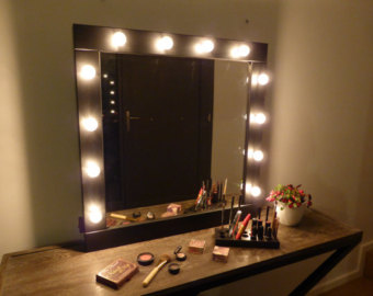 makeup wall mirror with lights photo - 8