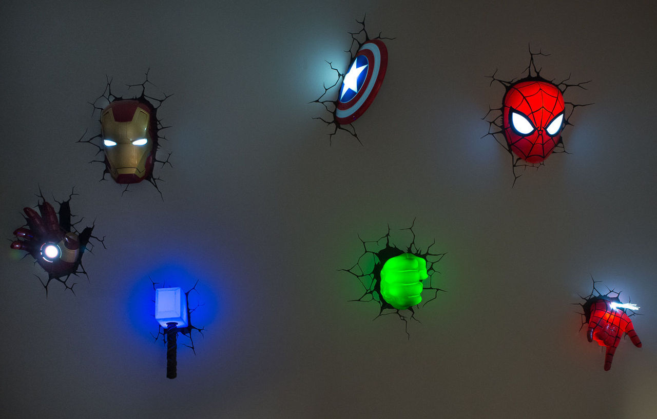 3d Wall Decor Lights : Experiencing wall lightings and decorations with marvel d