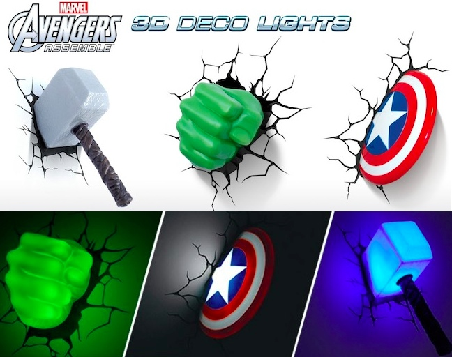 marvel 3d wall lights photo - 7