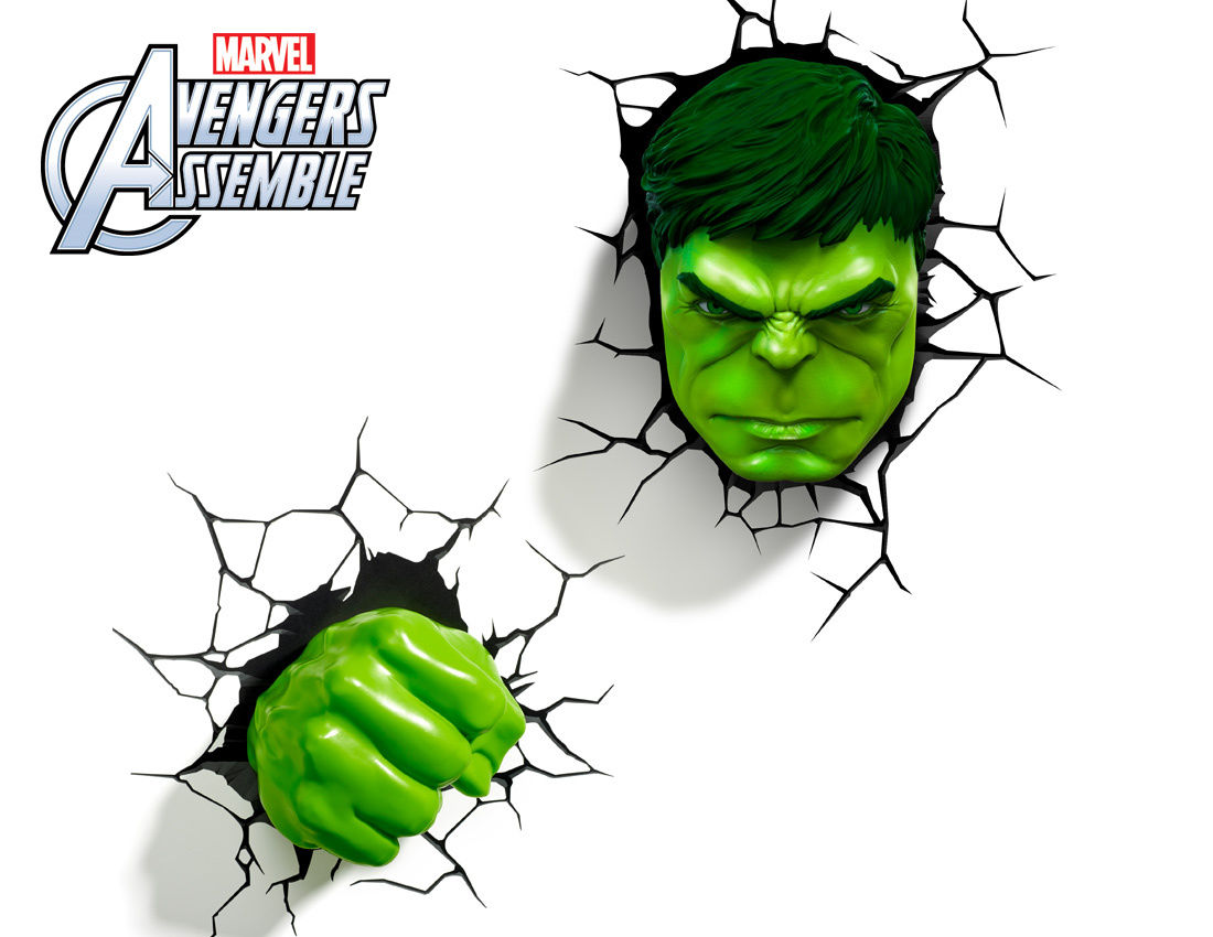marvel 3d wall lights photo - 8