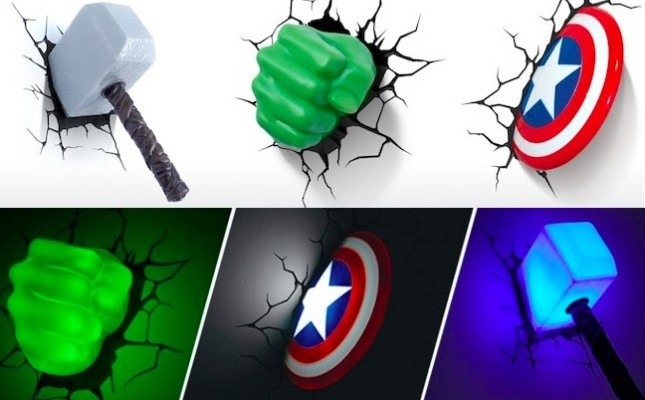 Great role of Marvel avengers 3d wall lights | Warisan ...