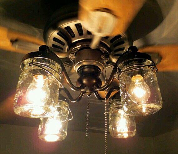 mason jar ceiling fan photo - 2