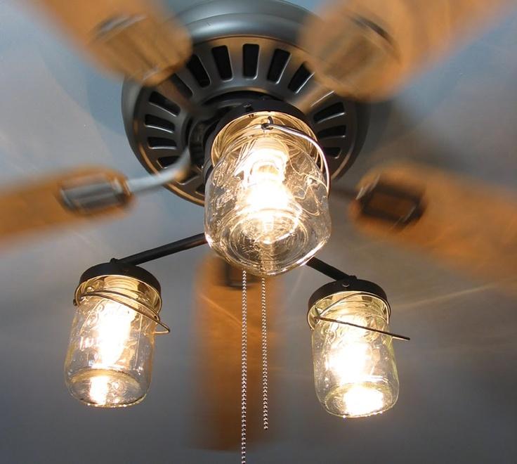 mason jar ceiling fan photo - 5