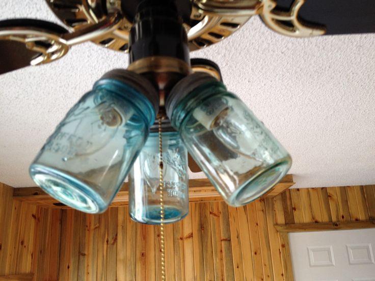 mason jar ceiling fan photo - 7
