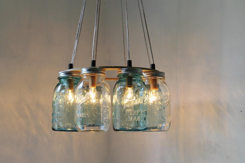mason jar ceiling lights photo - 6