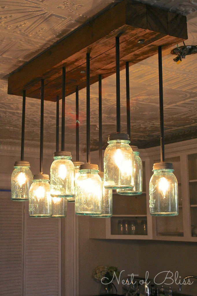 mason jar lamp diy photo - 1